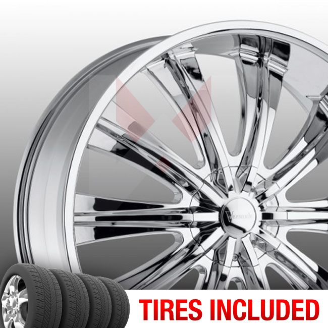 of 4 New 20 Versante 220 5x115 127 15 Wheels Tires Rims Chrome